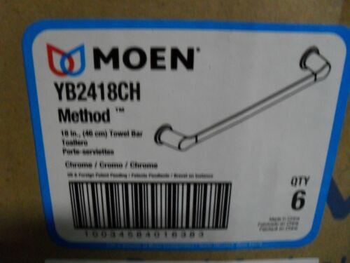 "Moen YB2418CH Method 18/"" Towel Bar Chrome"