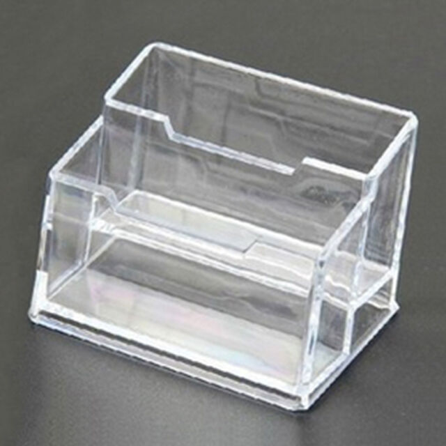 Acrylic Boss Staff Double Layer Business Card Holder Office Supply Desk Kit  Set