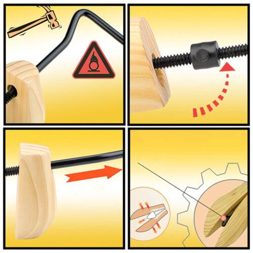 Unisex women men wooden adjustable 2-way shoe stretcher shoe expander shaper✔PT