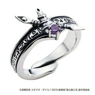Black Magician Ring SILVER 925 White Clover Select Size Anime Japan Yu-Gi-Oh