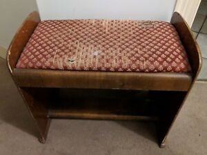Antiques Humor Antique Edwardian Mahogany Piano/dressing Table Stool Antique Furniture