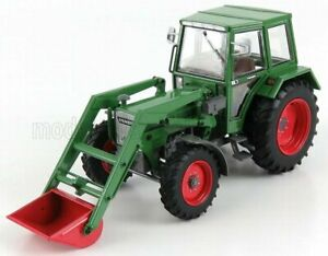 UNIVERSAL HOBBIES 1/32 FENDT | 108LS 4WD WHIT FRONT LOADER 1984 | GREEN RED