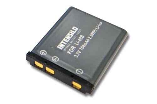 Original intensilo ® batería 700mah para Fuji Fujifilm finepix t200//t205//t210