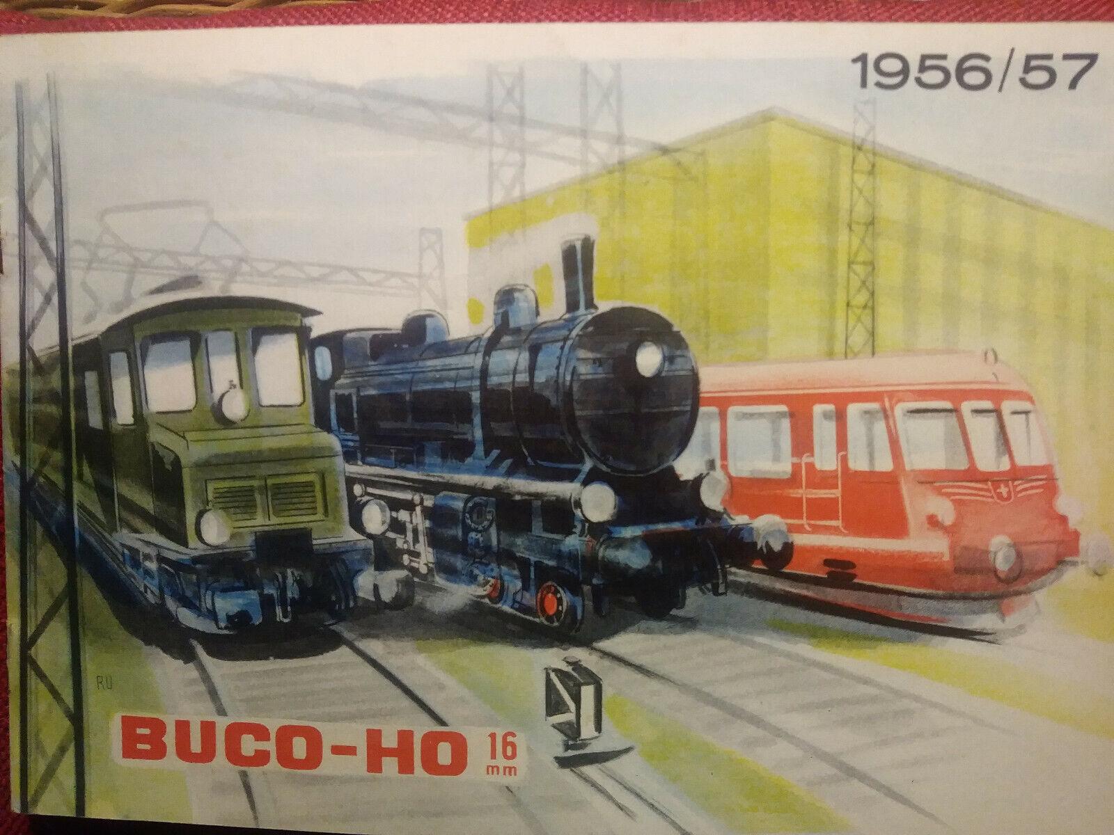 BUCO - H0 16mm Modelbahn - Katalog Ausgabe 1956 57, A5 quer, 16 Seiten, schön