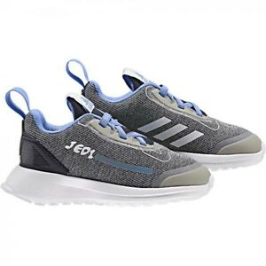 new-adidas-Kids-RapidaRun-STAR-WARS-Shoes-toddler-boy-sz-8K-eur-25-gray-sneakers