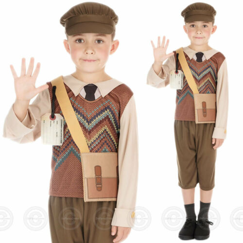 BOYS EVACUEE WARTIME FANCY DRESS COSTUME SCHOOLBOY CHILDS OUTFIT NEW WW1 HISTORY