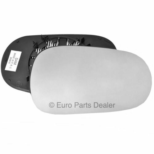 Driver side Clip Heated Convex wing mirror glass for Renault Modus 04-08