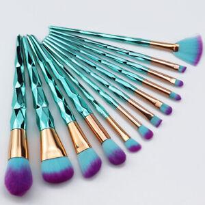12pcs unicorn makeup brushes set cosmetic foundation blush