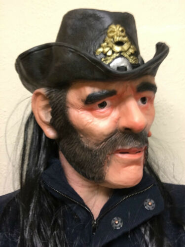 Lemmy Mask Latex Ace of Spades Kilmister Rocker Fancy Party Motorhead Masks