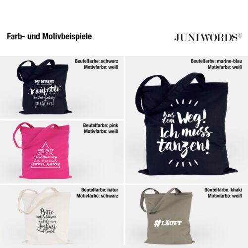 """JUNIWORDS Jutebeutel /""""Origami Flamingo/"""" verschiedene Farben Geschenk Tasche"""