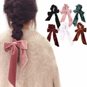 Elastic-Velvet-Ribbon-Bow-Hair-Tie-Rope-Hair-Band-Scrunchies-Ponytail-DesignPPPP
