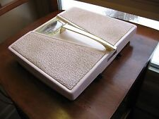 VINTAGE PINK COUNSELOR BATHROOM SCALE Mid Century Working Retro Bath
