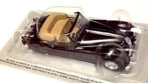 Jaguar-XK-140-Convertibile-Amaranto-Scala-1-43-DeAgostini-Nuova
