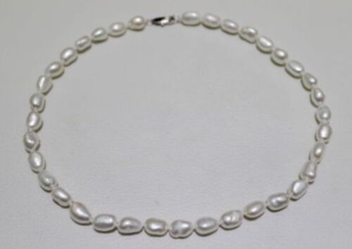 7-8mm Fresh water pearl necklace white Length 18 INCHES