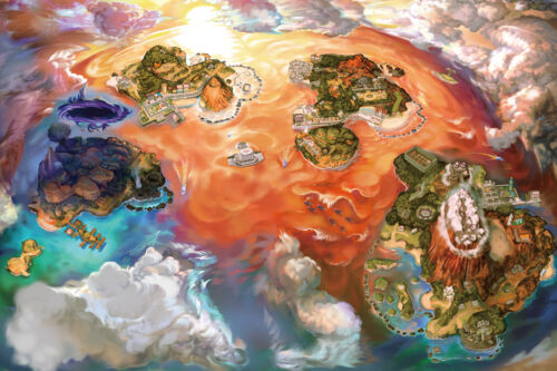 "Pokemon Sun Moon 2DS Video Game 36/"" x 24/"" Large Wall Poster Print Fan Art Decor"