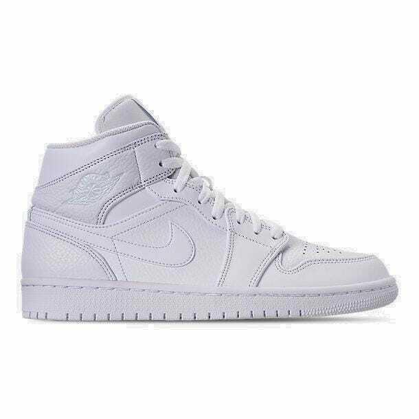 Men's Air Jordan 1 Mid Retro Basketball shoes White White 554724 109