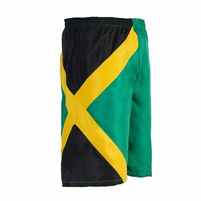 40455e8427 Details about Reggae Men Cruise Swim Trunk Sports Jamaica Bermuda Shorts  Beach Pants Trousers