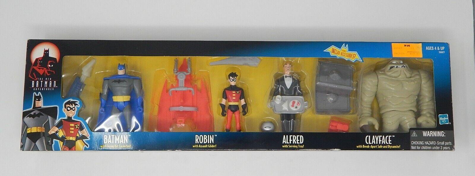 Nuevo 1999 HASBRO Batman el Nuevas Aventuras 4 figura conjunto Robin Alfrosso Clayface