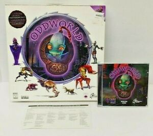 Oddworld: Abe's Oddysee (PC, 1997) Original Big Box Game Mint Disc Rare Complete