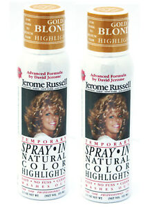 Jerome-Russell-SPRAY-IN-TEMPORARY-Color-Highlights-Gold-Blonde-TWO-PACK
