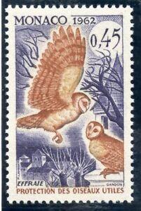 Stamp / Timbre De Monaco N° 587 ** Faune / Pour La Protection Des Oiseaux Utiles Ventes De L'Assurance Qualité