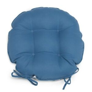 Set Of 2 16 Outdoor Round Bistro Chair Cushions W Ties Solid