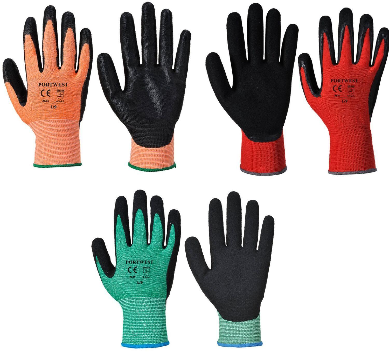 Portwest Resistente Ai Tagli Mani Nitrile Schiuma Safety Protezione Mani Tagli Guanti 72 & f4a535
