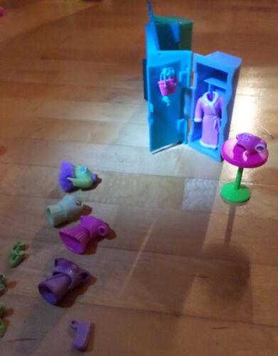 2 Puppen Zubehör wie auf den Bildern Polly pocket Disco Lila