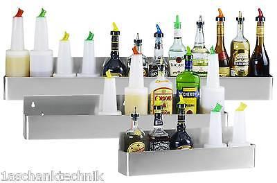 Flaschenregal Edelstahl Wand für 8 Flaschen Cocktails shaken mixen Barzubehör