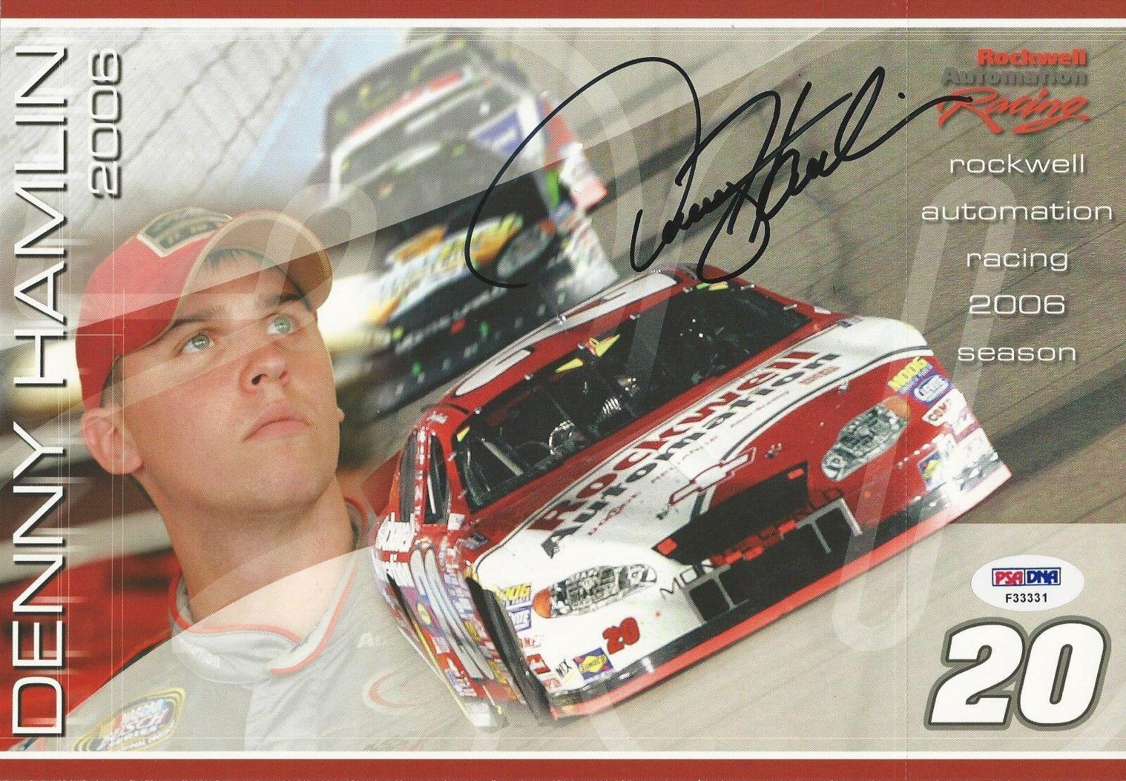 Denny Hamlin.signed 8x10 PSA/DNA Cert # F33331