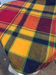 Tablecloth-SQUARE-MULTI-COLOR-Plaid-100-COTTON-32-034-X32-034