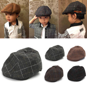 49a75649da Fashion Kids Baby Girl Boy Beret Hat Peaked Cap Child Leisure Caps ...