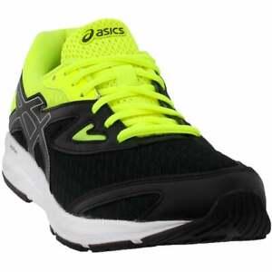 asics amplica grade school casual running shoes black boys