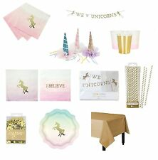 I believe in Unicorns MEGA party tableware Package, Unicorn Horn, garland, etc