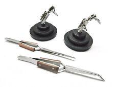 Helping Hand Soldering Stands 3rd Hand Bases Amp 2 Cross Lock Fiber Grip Tweezers