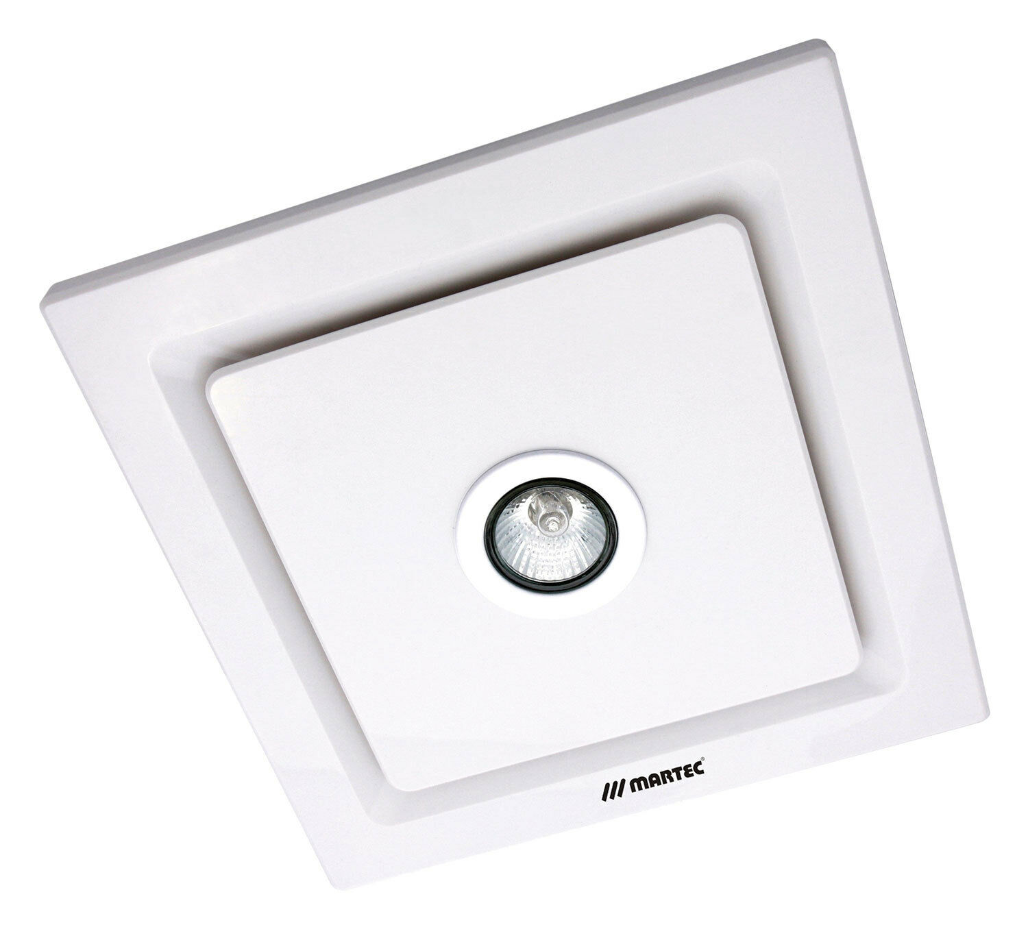 Tetra white with led light bathroom exhaust fan mxflt25w for Bathroom exhaust fan with led light