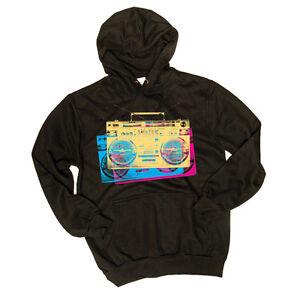 Technics-DMC-Hoodie-Boom-Box-Logo-Black-Black-Size-L-New-Boxed