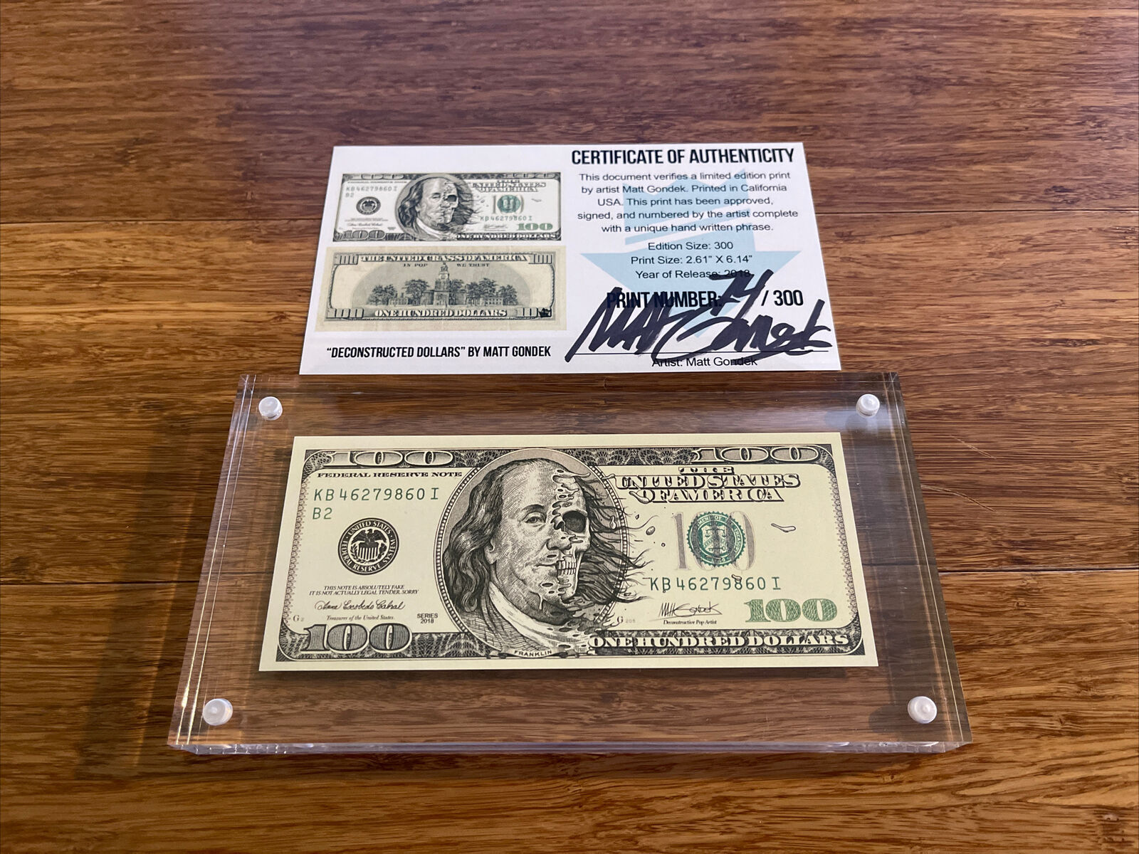Deconstructed Dollars - Matt Gondek 74/300 on eBay thumbnail