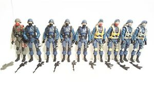 GIJOE 25TH ANNIVERSARY COBRA TROOPER OFFICER SQUADRON LOT OF 9