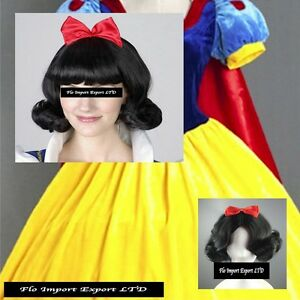 Biancaneve Parrucca Carnevale Dress up Cosplay Snow White Wig BNWIG01