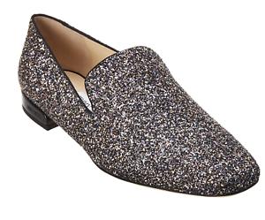 2d3aa3df0c1c Jimmy Choo JAIDA Flat Twilight Shoes 37 EU 7B US Glitzy Glitter ...