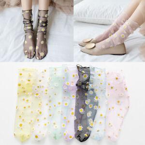 Daisy-Women-Breathable-Mesh-Transparent-Ultra-thin-Socks-Tulle-Socks-Summer