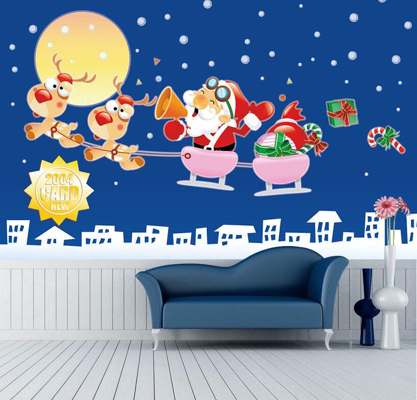 3D 3D 3D Weihnachtsmann Malerei 89 Tapete Wandgemälde Tapete Tapeten Bild Familie DE | Verschiedene aktuelle Designs  | Günstige Bestellung  | Düsseldorf Online Shop  27d7ee