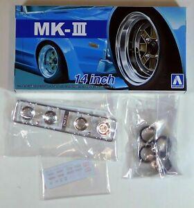 Aoshima 53898 Tuned Parts 56 1//24 MK-3 14inch Tire /& Wheel Set