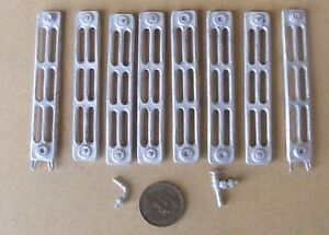 1-12-Scale-Dolls-House-Miniature-8-Section-Non-Working-White-Metal-Radiator-Kit