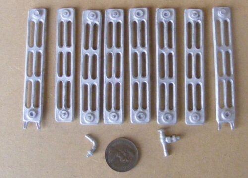 Escala 1:12 Casa de Muñecas en Miniatura 8 sección Kit De Radiador no metal blanco de trabajo