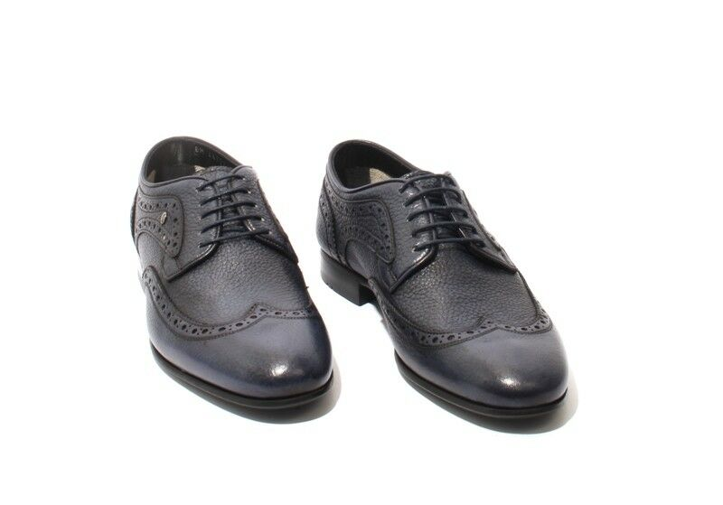 ROBERTO SERPENTINI 44722 44722 44722 Antique Navy Pelle Shoes Lace Up Oxfords 335755