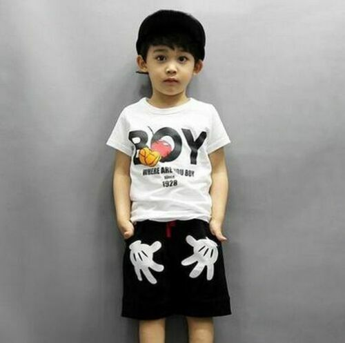 Causal Clothes Set Summer Children Clothing Baby Boy Short Sleeve T-Shirt Pants