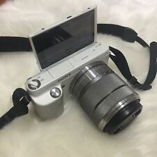 Sony Alpha NEX-F3 16.1MP Digital Camera - White (Kit w/ E OSS 18-55mm Lens)