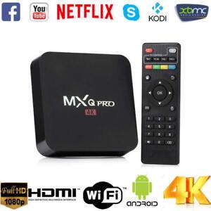 Smart TV BOX MXq Pro Android 7.1 Mini PC Quad Core WiFi 8Gb 4K*2K 1080P 3D IPTV